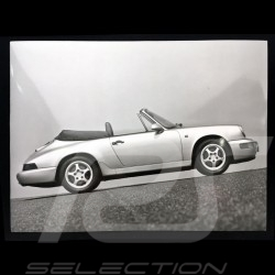 Photo Porsche 911 Cabriolet 1992 noir et blanc black and white schwarz und weiß