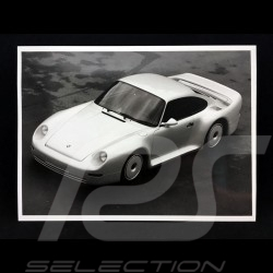 Photo Porsche 959 étude Groupe B noir et blanc black and white schwarz und weiß