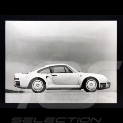 Photo Porsche 959 prototype 1986 noir et blanc black and white schwarz und weiß