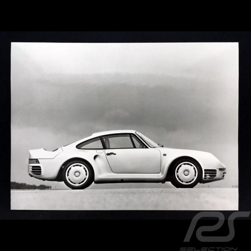 Photo Porsche 959 prototype 1986 noir et blanc black and white schwarz und weiß