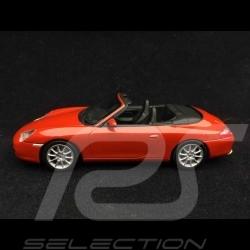Porsche 911 type 996 Carrera Cabriolet 2002 1/43 Minichamps WAP02008112 rouge Orient Orient red Orientrot