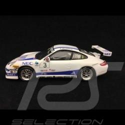 Porsche 911 type 996 GT3 Cup MVI Deutschland 2007 n° 3 1/43 Minichamps 400076483