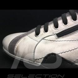 Chaussure Sport Hi-top sneaker / basket montante style pilote blanc cassé gris off-white altweiß - homme men herren
