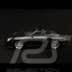Porsche 911 type 996 Turbo Cabriolet 2004 1/43 Minichamps WAP02010114 bleu gris blue grey blau grau metal