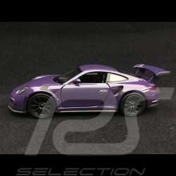 Porsche 911 GT3 RS type 991 Welly violet jouet à friction pull back toy Spielzeug Reibung