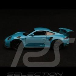 Porsche 911 GT3 RS type 991 Welly bleu jouet à friction pull back toy Spielzeug Reibung