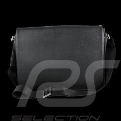 Sac Porsche Laptop / Messenger Cervo 2.0 Porsche Design 4090001801 cuir noir black leather shoulder baf schwarze leder tasche