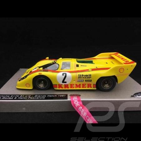 Slot car Porsche 917 K 81 1000km Brands Hatch 1981 n° 2 Kremer 1/32 Le Mans miniatures 1320812M