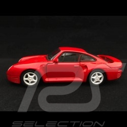 Porsche 959 jouet à friction Welly rouge pull back toy red Spielzeug Reibung rot
