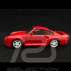 Porsche 959 Spielzeug Reibung Welly rot