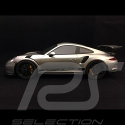 Porsche 911 GT3 RS type 991 2015 silver grey metallic 1/12 GT Spirit GT705