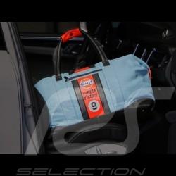 Gulf Racing Reisetasche Le Mans 1968 Sieg Leder blau / orange / schwarz