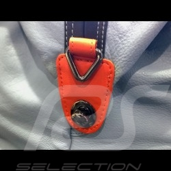 Sac de voyage Gulf Racing victoire Le Mans 1968 cuir bleu / orange / noir Travel bag Reisetasche victory Sieg