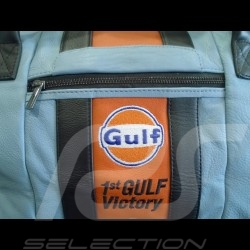 Sac de voyage Gulf Racing victoire Le Mans 1968 Medium cuir bleu / orange / noir travel bag reisetasche
