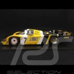 Porsche 956 LH Sieger Le Mans 1985 n° 7 New Man 1/18 Spark 18LM85