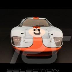 Ford GT40 Gulf n° 9 Vainqueur Winner Sieger Le Mans 1968 1/18 Spark 18LM68