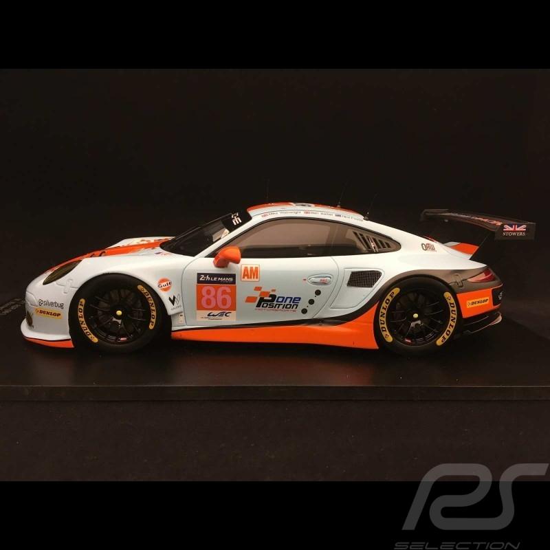 Porsche 911 RSR type 991 24h du Mans 2017 n° 86 Gulf Racing UK 1/18 Spark 18S334