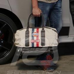 Gulf vintage Sporttasche beige Baumwolle/ Leder
