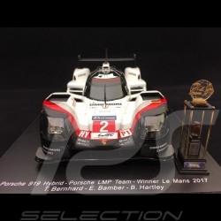Porsche 919 Hybrid Vainqueur Winner Sieger Le Mans 2017 n° 2 LMP1 1/18 Spark 18LM17