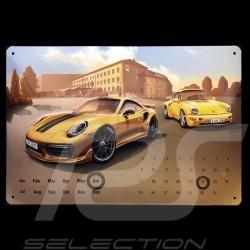 Calendrier Porsche 911 Turbo S Exclusive métal à poser - perpétuel - Porsche Design WAX05000007 Calendar Kalender