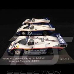 Trio Porsche 956 Stefan Bellof Nürburgring 1983 record 1/43 CMR SBC003 SBC004 SBC005
