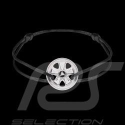 Bracelet Fuchs Argent Sterling Cordon noir Edition limitée 911 exemplaires armband black schwarz