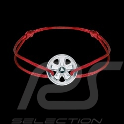 Bracelet Armband Fuchs Argent Sterling Cordon rouge red rot Edition limitée 911