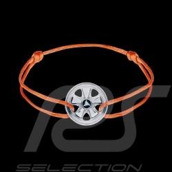 Bracelet Fuchs Argent Silver Silber Sterling Cordon orange Edition limitée 911 exemplaires Armband