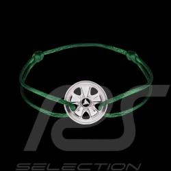 Bracelet Fuchs Argent Silver Silber Sterling Cordon vert irish Edition limitée 911 exemplaires Armband irish green
