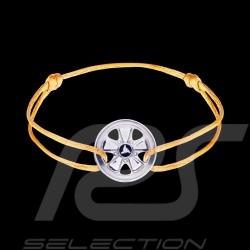Fuchs Armband Sterling Silber gelb Schnur Limitierte Auflage 911 Stück