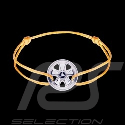 Fuchs Bracelet Sterling Silver yellow cord Limited Edition 911 pieces