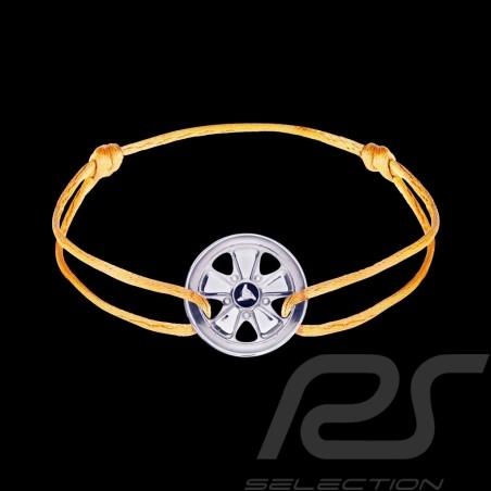 Bracelet Armband Fuchs Argent Silver Silber Sterling Cordon jaune yellow gelb Edition limitée 911