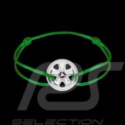 Bracelet Armband Fuchs Argent Sterling Silver Silber Cordon vert kelly green grün Edition limitée 911 exemplaires
