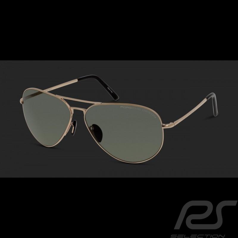 c01cc1ca13ef7e Lunettes de soleil Porsche monture dorée   verres polarisants verts Porsche  Design P 8508-