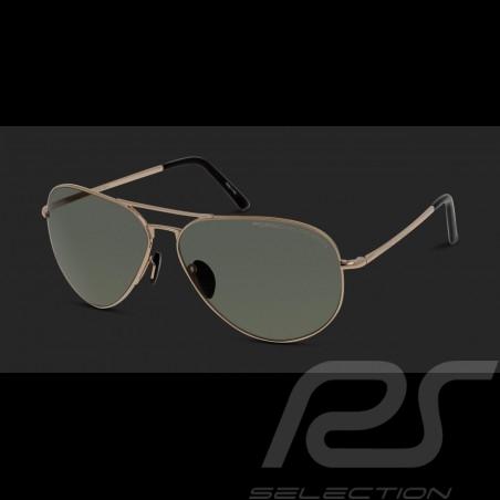 Lunettes de soleil Porsche monture dorée / verres polarisants verts Porsche Design P'8508-A - mixte sonnebrille sunglasses