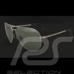 Porsche Sonnenbrille Silberfarben / olive verspiegelte Gläser Porsche Design P'8508-C - Unisex