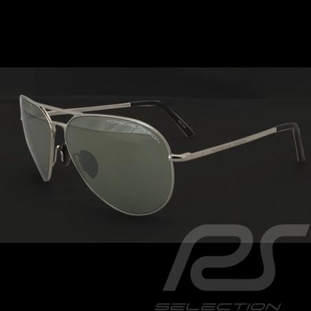 Lunettes de soleil Porsche monture argent / verres miroir olive Porsche Design P'8508-C - mixte sonnenbrille sunglasses