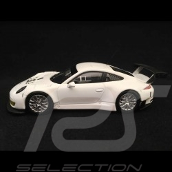 Porsche 911 GT3 R type 991 presentation Ready to race 1/43 Ixo GTM120 blanche white weiß