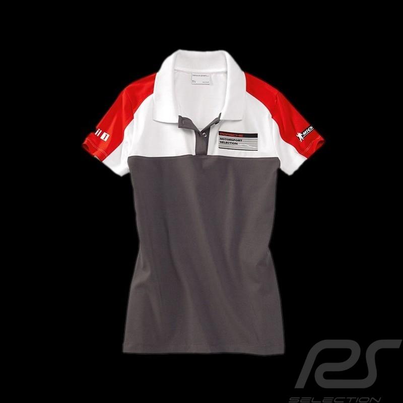 Porsche Motorsport Womens Red Polo