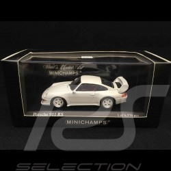Porsche 911 Carrera RS type 993 Club Sport 1995 1/43 Minichamps 430065105 blanc Grand prix white weiß