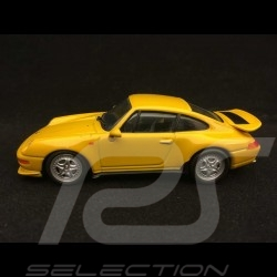 Porsche 911 Carrera RS 1995 type 993 1/43 Minichamps 430065100 jaune vitesse speed yellow speedgelb