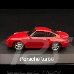 Porsche 911 Turbo 1995 type 993 indian red 1/43 Schuco 04111