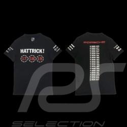 T-shirt Porsche 919 Hattrick Le Mans 2015 2016 2017 black Porsche Design WAP181 - unisex