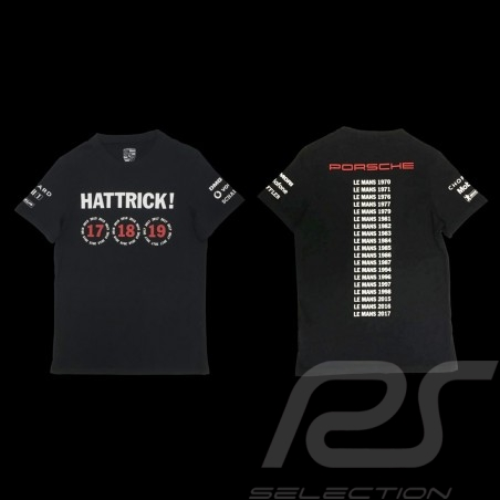 T-shirt Porsche 919 Hattrick Le Mans 2015 2016 2017 Porsche Design WAP181 - mixte noir black  schwarz