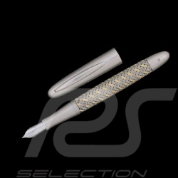 Porsche Design acier or Tec Flex Stylo plume Fountain Pen Füllfederhalter Gold