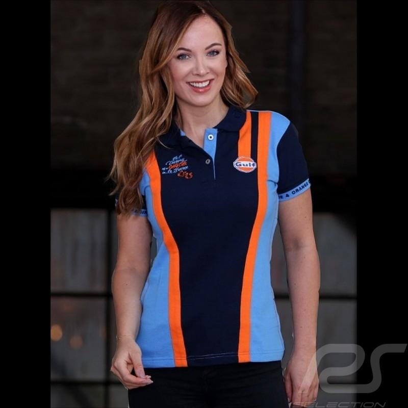 Polo Gulf victoire Le Mans bleu marine - femme women damen navy blue marineblau