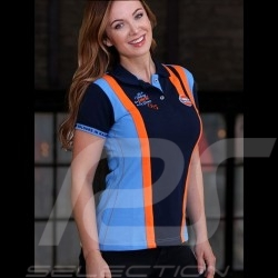Gulf Le Mans victory Polo shirt navy blue - women
