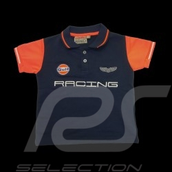 Gulf Racing Sport Polo shirt navy blue - kids