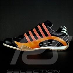 Sneaker / basket shoes style race driver Gulf black / orange - men