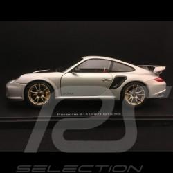 Porsche 911 GT2 RS type 997 2010 silver grey 1/18 Autoart 77961